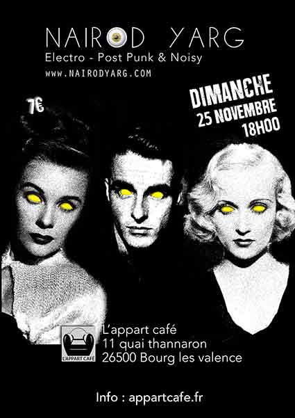 25/11/2018 concert à l'Appart Café à Bourg-lès-Valence